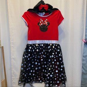 Disney Minnie Mouse dress with hood/ears